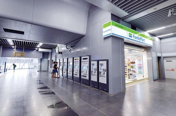 The Family Mart (on the right) inside the station. ― Malay Mail pic