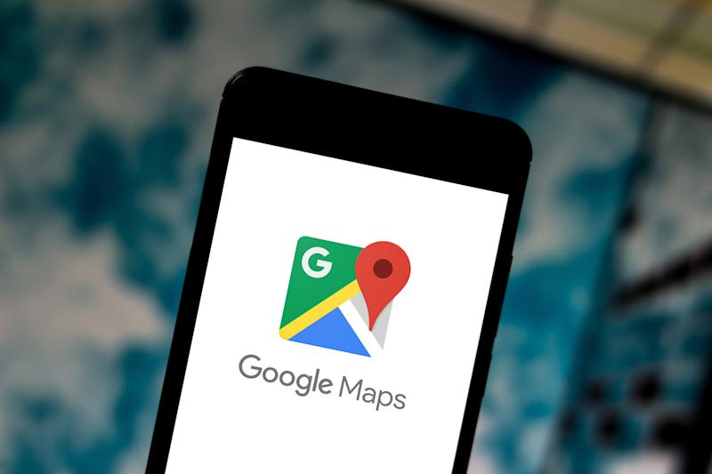 BRAZIL - 2019/06/24: In this photo illustration a Google Maps logo seen displayed on a smartphone. (Photo by Rafael Henrique/SOPA Images/LightRocket via Getty Images)