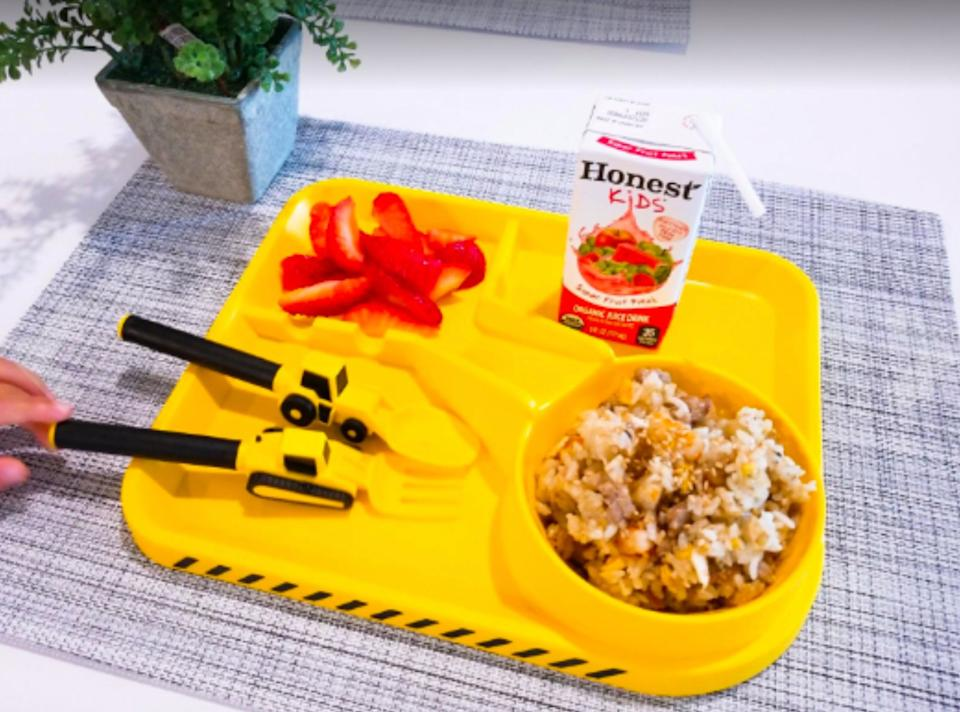 """If you add a bit of fun to your kid's dinner, they might actually eat everything on their plate.<br /><br /><strong>Promising review:</strong>""""My toddler is really into construction vehicles and when I served his breakfast in here he was so excited and couldn't wait to eat by himself. Great quality too! I'm very happy with my purchase. My 30-month-old toddler likes to eat now!"""" —<a href=""""https://www.amazon.com/dp/B07NVVFMZL?tag=huffpost-bfsyndication-20&ascsubtag=5871416%2C9%2C27%2Cd%2C0%2C0%2C0%2C962%3A1%3B901%3A2%3B900%3A2%3B974%3A3%3B975%3A2%3B982%3A2%2C16385641%2C0"""" target=""""_blank"""" rel=""""noopener noreferrer"""">Ks</a><br /><br /><strong>Get it from Amazon for<a href=""""https://www.amazon.com/dp/B07NVVFMZL?tag=huffpost-bfsyndication-20&ascsubtag=5871416%2C9%2C27%2Cd%2C0%2C0%2C0%2C962%3A1%3B901%3A2%3B900%3A2%3B974%3A3%3B975%3A2%3B982%3A2%2C16385641%2C0"""" target=""""_blank"""" rel=""""noopener noreferrer"""">$24.99</a>(available in seven colors).</strong>"""