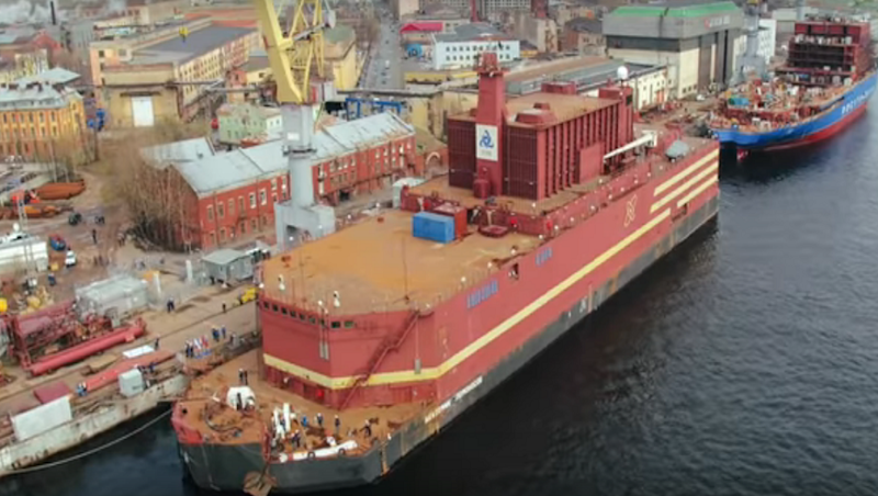 Russia's World-First Floating Nuclear Plant 'Akademik Lomonosov' Arrives at Port in Pevek
