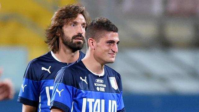 Marco Verratti has been described as Andrea Pirlo's heir, but the New York City midfielder disagrees with that assessment.