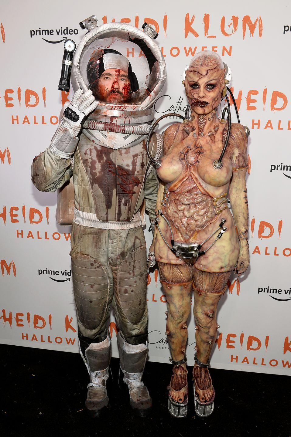<p>Wow. Talk about going all out! The Halloween Queen Heidi Klum and her husband Tom Kaulitz dressed as a mega-gory alien and astronaut in 2019. What will they do to bring it in 2020?</p>