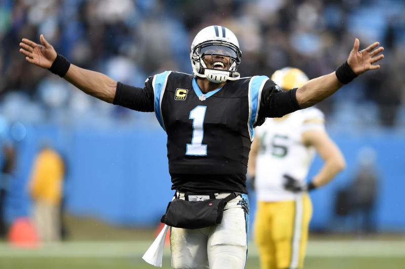 Carolina Panthers quarterback Cam Newton wasn't happy to hear of owner Jerry Richardson's plans to sell the team. (AP)