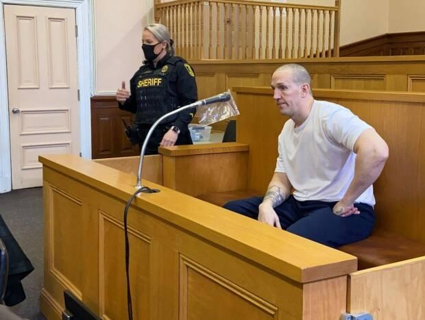 Connolly, seen here sitting in the dock at Supreme Court in St. John's on Tuesday, will learn Wednesday how much longer his sentence for manslaughter will be.