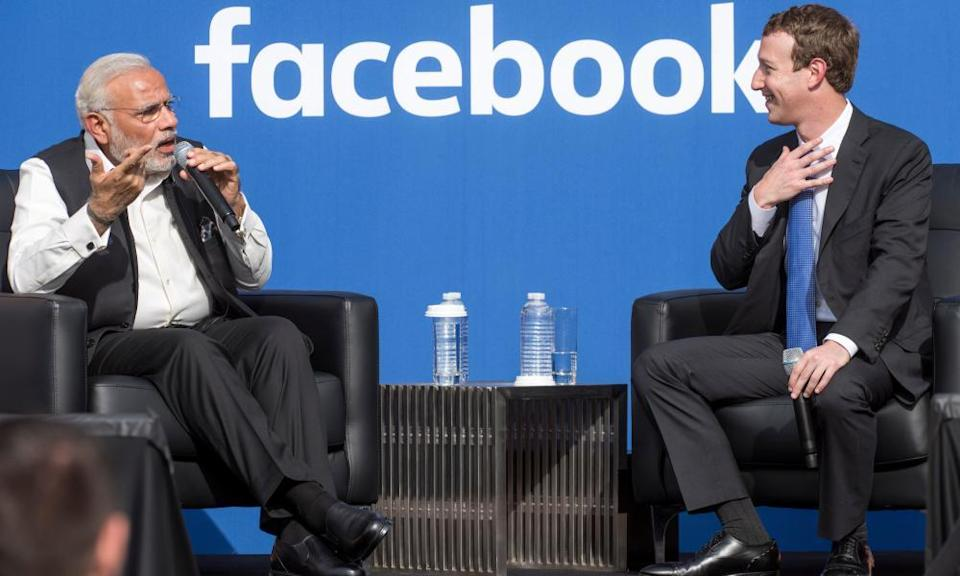 India is Facebook's largest market and Narendra Modi is close to Mark Zuckerberg.