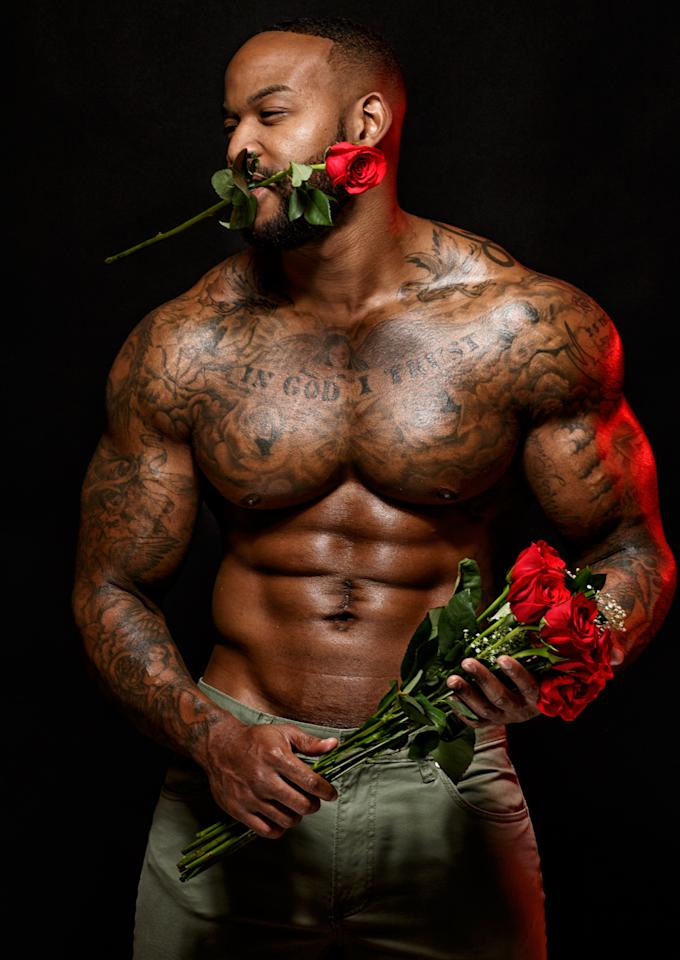 """<p>Sadly, Joshua is taken and has definitely broken our hearts but he loves his lady love. """"Behind every man, there's a strong, independent woman that helps build their empire,"""" he says. """"Once you have found the one, you keep your hands tight and build."""" Amen to that!</p>"""