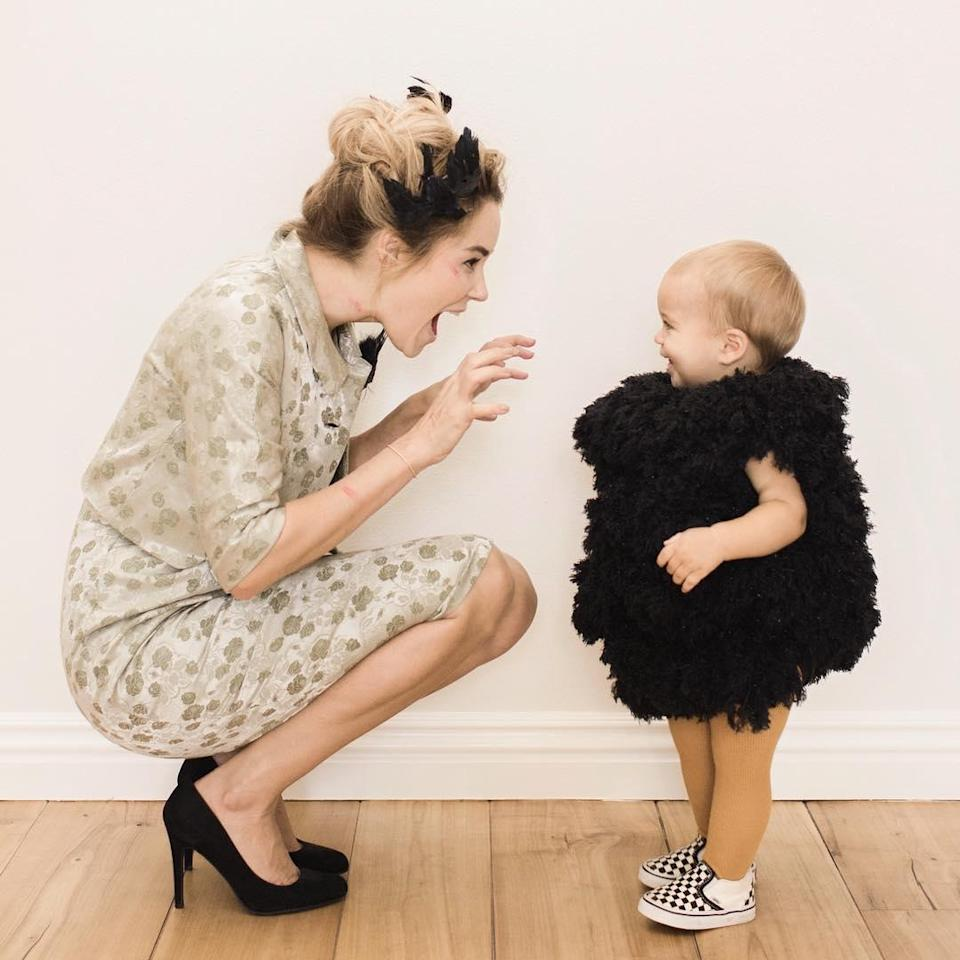 Only Lauren Conrad could make a horror classic like Alfred Hitchcock's <em>The Birds</em> look so cute. She went as the main character Melanie Daniels; her son was a baby bird.
