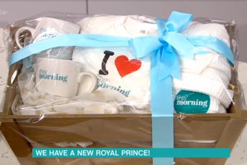 Goodies: The ITV show sent a hamper to Kensington Palace (ITV / This Morning)
