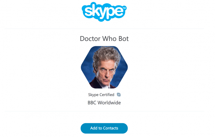 The Doctor Who Bot on Skype