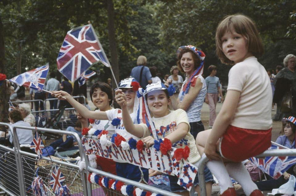 <p>Remember those campers? They lined the streets with British flags and decorations, hoping to get a glimpse at the couple upon their arrival. </p>