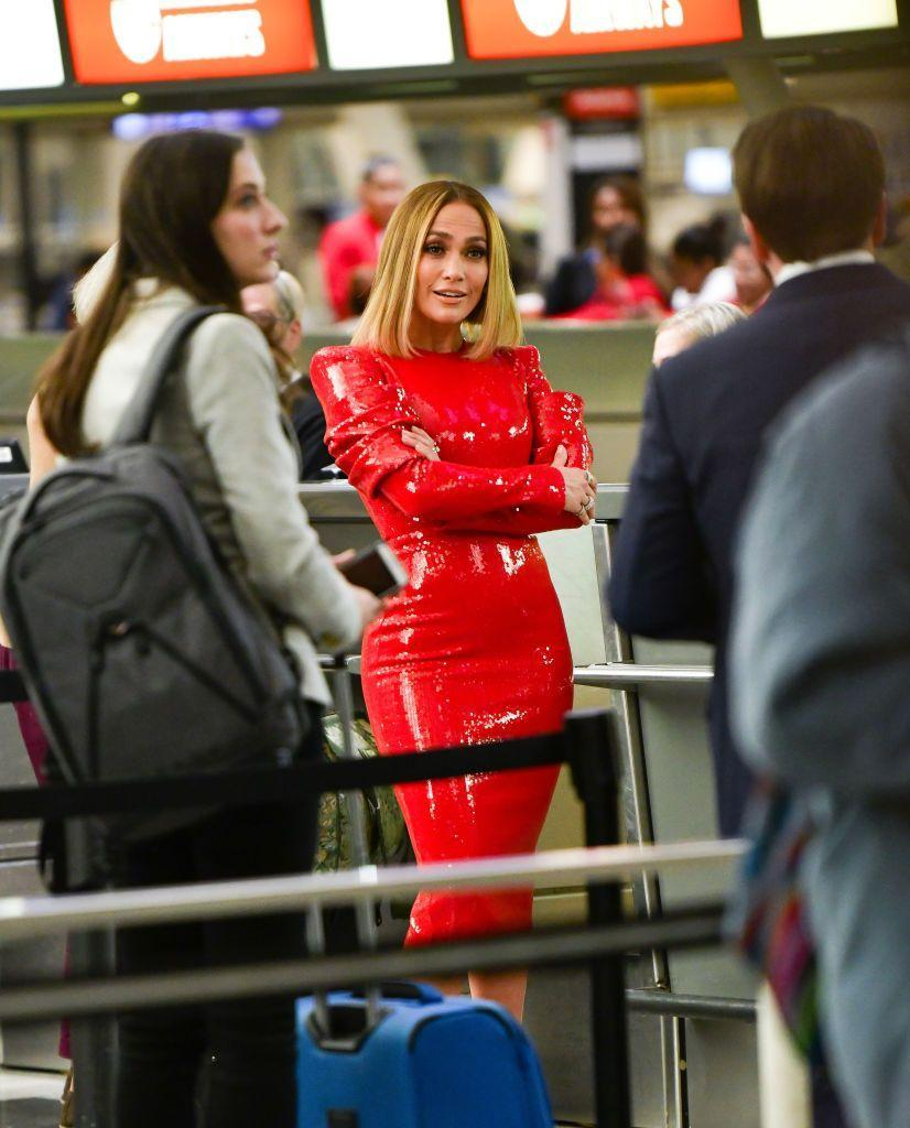 <p><strong>Jennifer Lopez, 2019:</strong> Granted, the star was filming a scene from <em>Marry Me</em> at the airport and not wearing this IRL, but something tells us not to be surprised if the super star showed up to JFK looking like this off-screen. <br></p>