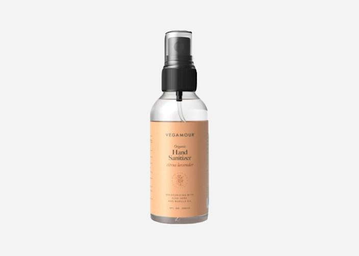 "Sprays tend to be less sticky than gels, as is the case with this citrus lavender-scented spray from Vegamour, made with 75% isopropyl alcohol. Your purchase <a href=""https://www.cntraveler.com/story/major-hotel-brands-are-donating-millions-of-rooms-to-coronavirus-workers?mbid=synd_yahoo_rss"" rel=""nofollow noopener"" target=""_blank"" data-ylk=""slk:does some good"" class=""link rapid-noclick-resp"">does some good</a>, too: A portion of each purchase goes to Project Angel Food, which prepares and delivers healthy meals to the families affected by life-threatening illnesses throughout Los Angeles. $6, Vegamour. <a href=""https://vegamour.com/products/hand-sanitizer-spray-6oz"" rel=""nofollow noopener"" target=""_blank"" data-ylk=""slk:Get it now!"" class=""link rapid-noclick-resp"">Get it now!</a>"