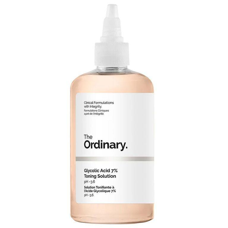 """<p><strong>The Ordinary</strong></p><p>ulta.com</p><p><strong>$8.70</strong></p><p><a href=""""https://go.redirectingat.com?id=74968X1596630&url=https%3A%2F%2Fwww.ulta.com%2Fglycolic-acid-7-toning-solution%3FproductId%3Dpimprod2007097&sref=https%3A%2F%2Fwww.bestproducts.com%2Fbeauty%2Fg249%2Ffacial-toners-for-every-skin-type%2F"""" rel=""""nofollow noopener"""" target=""""_blank"""" data-ylk=""""slk:Shop Now"""" class=""""link rapid-noclick-resp"""">Shop Now</a></p><p>Want a powerful toner that won't wipe away your bank account? This under-$10 pick will do just the trick: It's filled with 7% <a href=""""https://www.bestproducts.com/beauty/g22530244/benefits-of-glycolic-acid-skincare-products/#"""" rel=""""nofollow noopener"""" target=""""_blank"""" data-ylk=""""slk:glycolic acid"""" class=""""link rapid-noclick-resp"""">glycolic acid</a> to wipe away dirt and grime lingering deep within your pores, while aloe vera and ginseng calm and hydrate your skin.</p>"""