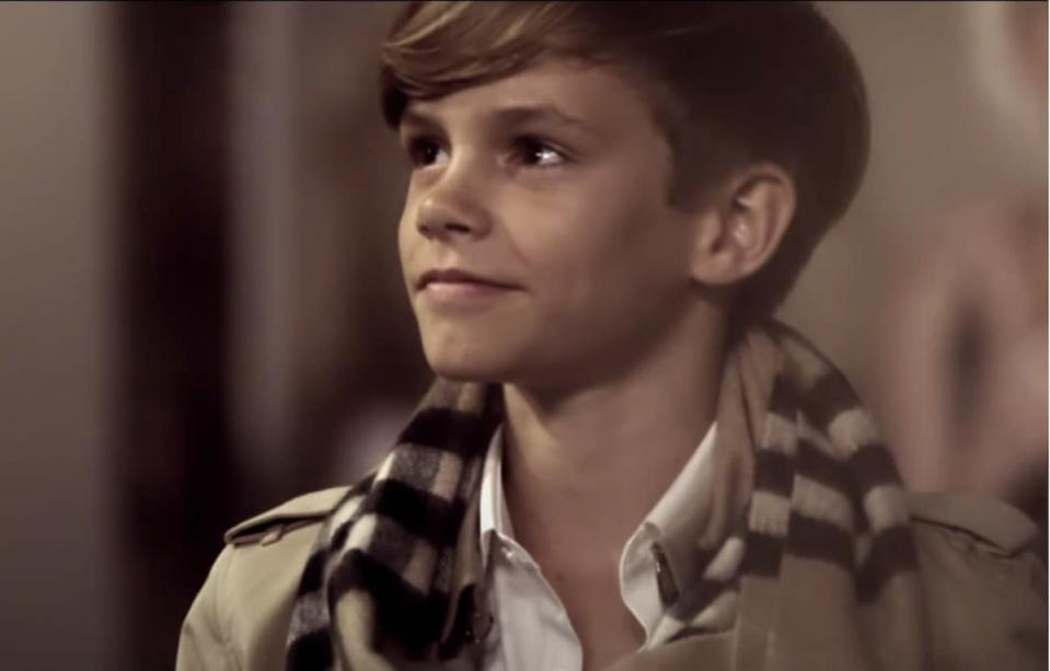 Romeo Beckham in 2014 Burberry ad