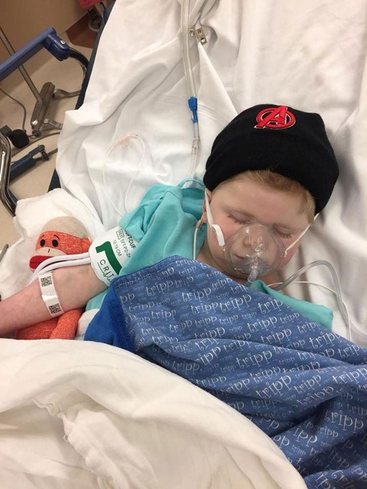 Tripp Halstead was hospitalized on Thursday after his mother, Stacy, noted that he was struggling to breath