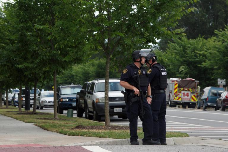 "Twelve people have been killed and six others wounded after a ""disgruntled"" employee opened fire at a municipal centre in Virginia Beach, the city's police chief has said.Police said the suspect, a long-term and current employee at Virginia Beach Municipal Centre fired ""indiscriminately"" and was killed when officers responded to the incident.Virginia Beach police chief James Cervera told reporters an officer was among the six wounded, adding that he was ""basically saved by his bulletproof vest"".""There's no way to describe an incident such as this,"" said Mr Cervera. At the same conference, Virginia Beach mayor Robert Dyer said: ""This is the most devastating day in the history of Virginia Beach.""The shooting happened at the Virginia Beach Municipal Centre, a campus of city offices and agencies, which includes the police department. The shooting happened in Building Number 2, which includes offices for planning and public works.""This day will not define Virginia Beach,"" said Virginia Beach councilman Aaron Rouse at the press conference. ""We will come together. We show the strength of our city.""Officials told WAVY that one patient was taken to Sentara Pincess Anne hospital. They were brought by a helicopter reserved for severe injures. Five other patients were taken to Virginia Beach General, seemingly with lesser injuries. ""This is a tragic day for Virginia Beach and our entire Commonwealth,"" wrote Virginia governor Ralph Northam on Twitter. ""My heart breaks for the victims of this devastating shooting, their families, and all who loved them. I am on my way to Virginia Beach now and will be there within the hour."""