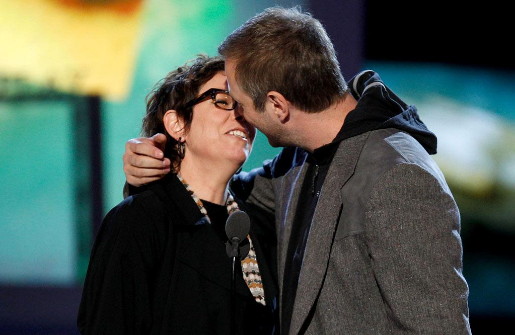 "BEST: The ""Kids Are All Right"" Writers — After winning Best Screenplay, co-writer Stuart Blumberg referred to himself and writer/director Lisa Cholodenko as ""two lesbians with a dream."" Then, at the end of their speeches, they made out. Inside joke, or reference to the film's sexual switch-ups? <a href=""http://www.televisionwithoutpity.com/show/award_shows/independent_spirit_awards_2011.php?__source=tw