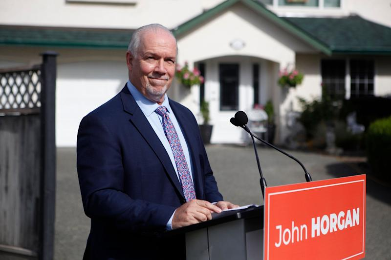 B.C. Premier John Horgan speaks during a press conference in B.C. on Sept. 21, 2020. (Photo: Chad Hipolito/THE CANADIAN PRESS)