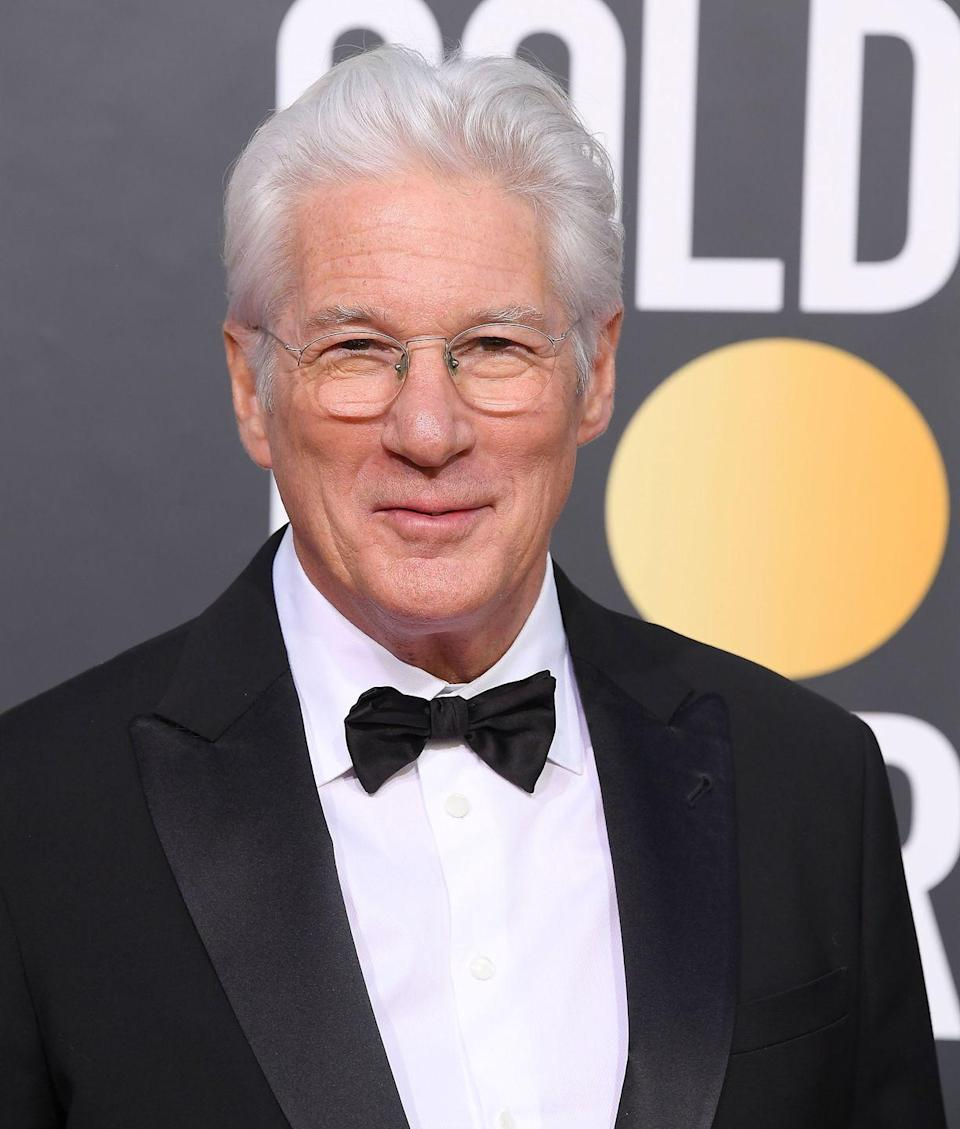 <p>By the time Gere starred alongside Julia Roberts in <em>Pretty Woman</em>, the actor was delightfully gray. Nowadays, Gere's hair is more white than gray and he wears it proudly.</p>
