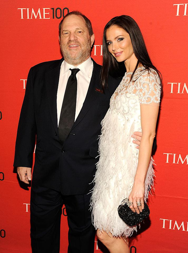 """Honoree Harvey Weinstein, chairman of The Weinstein Company, the production company behind this year's Oscar winner for Best Picture """"The Artist,"""" brought his stylish wife, Georgina Chapman, as his date. The Marchesa designer was breathtaking in one of the label's feathery dresses."""