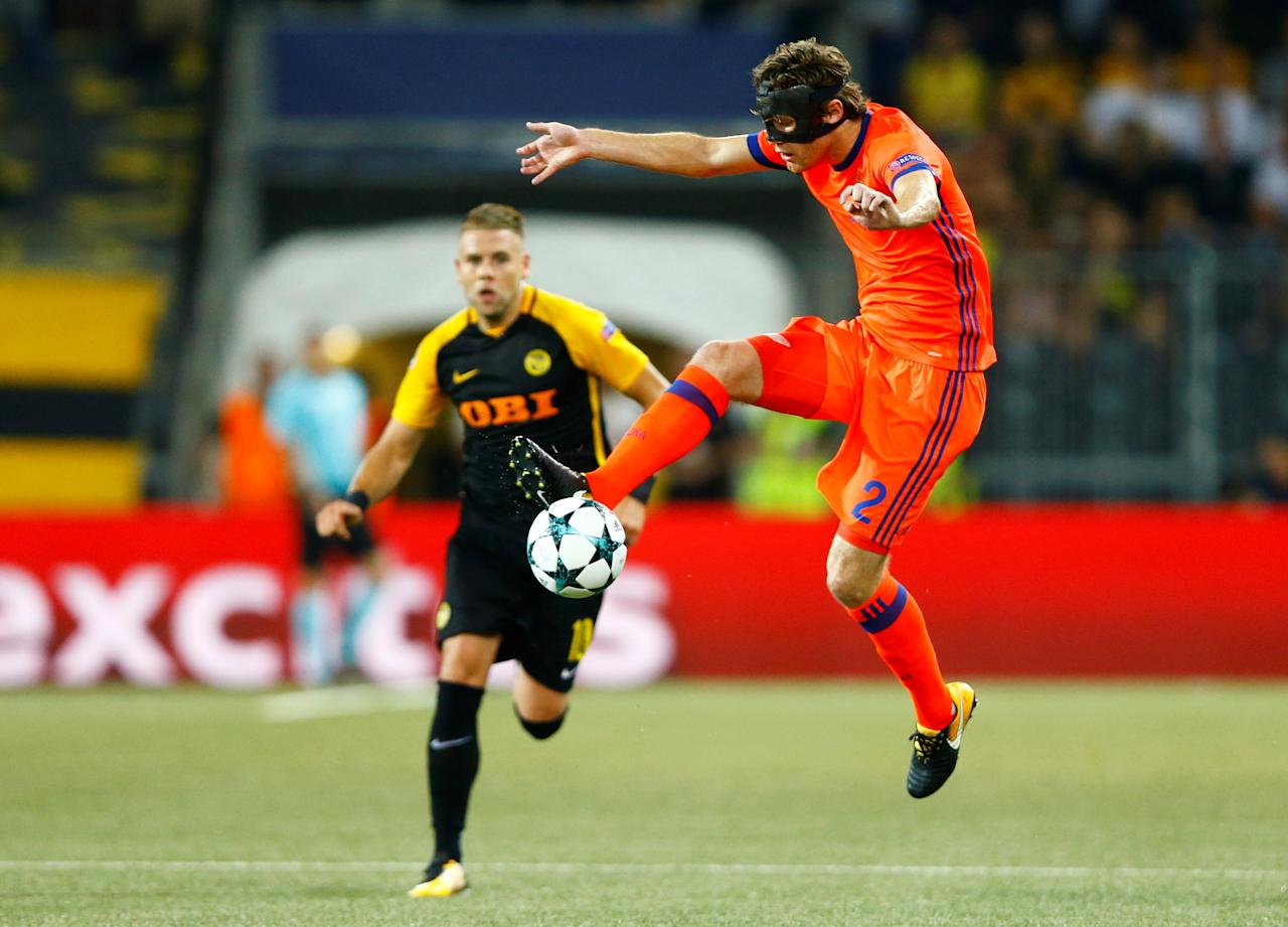 Soccer Football - Champions League - BSC Young Boys vs CSKA Moscow - Qualifying Play-Off First Leg - Bern, Switzerland - August 15, 2017   CSKA Moscow's Mario Fernandes in action   REUTERS/Arnd Wiegmann