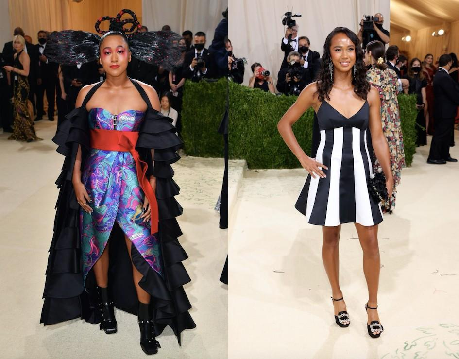 Naomi Osaka and Leylah Fernandez were other tennis representatives on the Met Gala red carpet. (Getty Images)