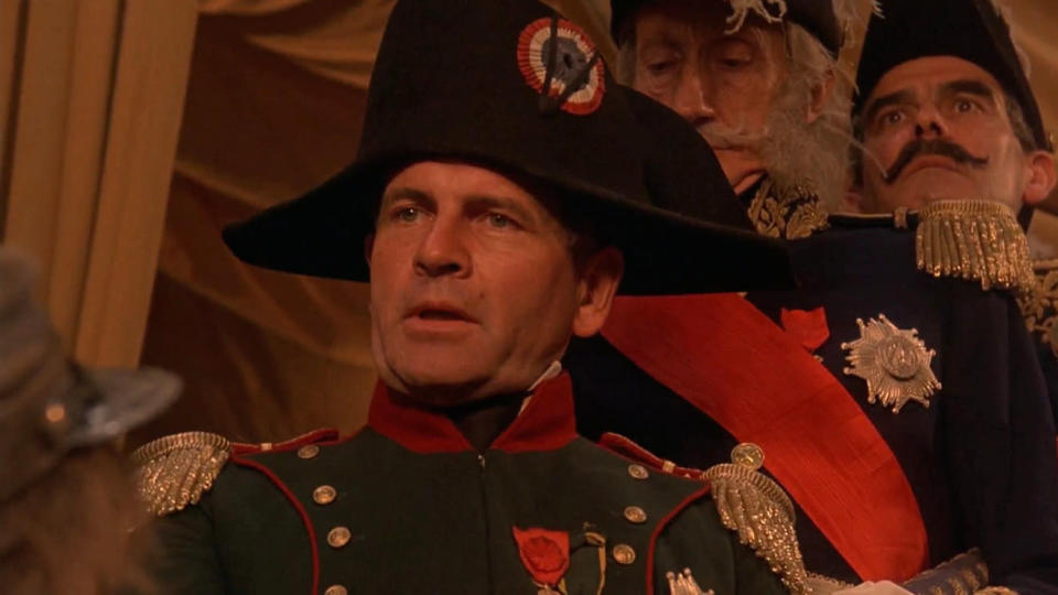 Ian Holm as Napoleon in 'Time Bandits'. (Credit: AVCO Embassy Pictures)