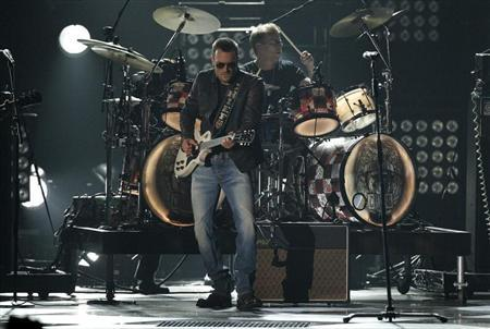 "Eric Church performs ""The Outsiders"" at the 47th Country Music Association Awards in Nashville, Tennessee"