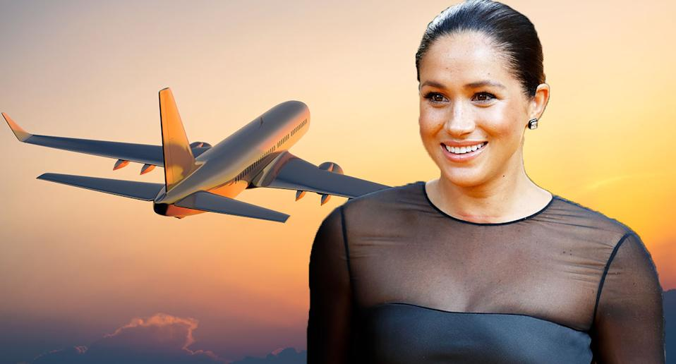 Meghan Markle flew to the US on a commercial flight, according to reports. [Photo: Getty]