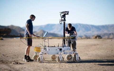 The rover will look for signs that water once existed on the planet then drill down into the surface - Credit: Geoff Pugh for the Telegraph