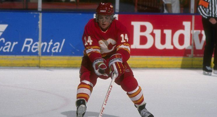 Theoren Fleury still holds the record for most short-handed goals in a game. (Stephen Dunn/Allsport/Getty)
