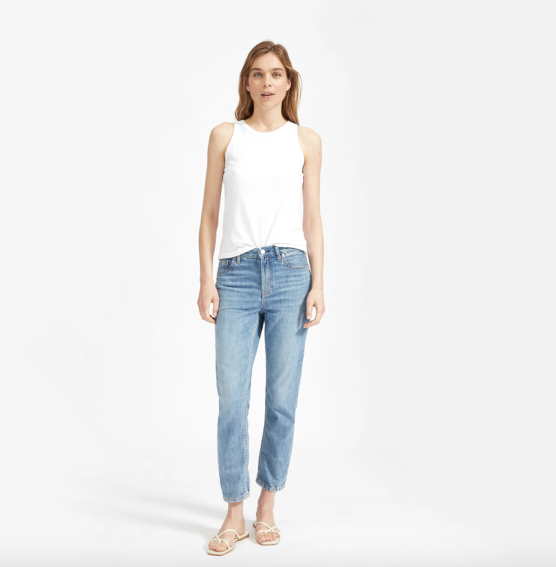 The Super-Soft Straight Leg Jean in Vintage Light Blue