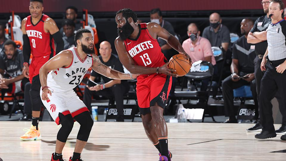 There are a number of reasons why James Harden wouldn't be a great fit for the Raptors. (Photo by Joe Murphy/NBAE via Getty Images)