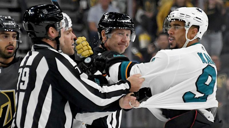 'ABSOLUTE JOKE': Sharks' Kane suspended 3 games for abuse of official