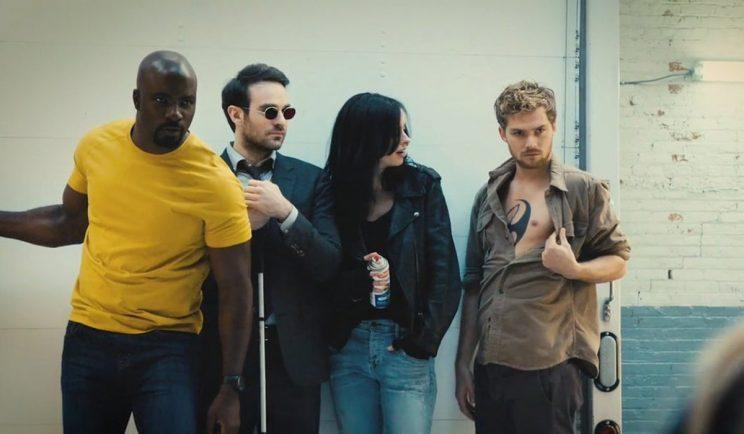The Defenders hang out - Credit: EW