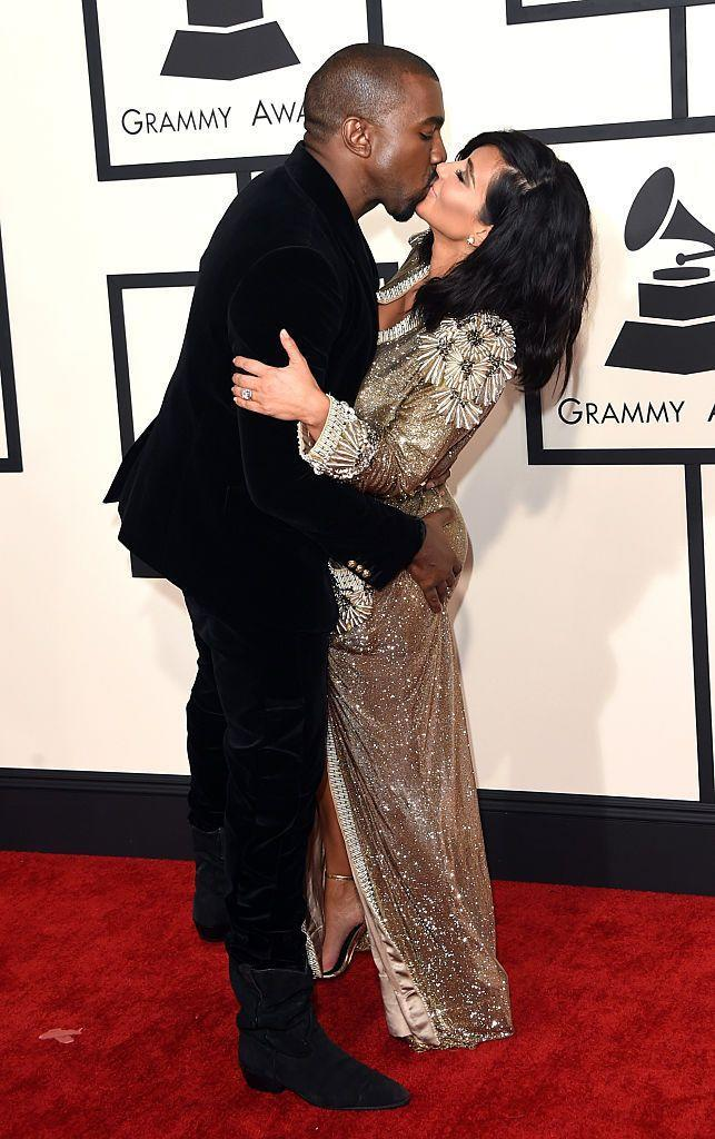<p>The couple made a PDA-filled statement at the 2015 Grammys.</p>