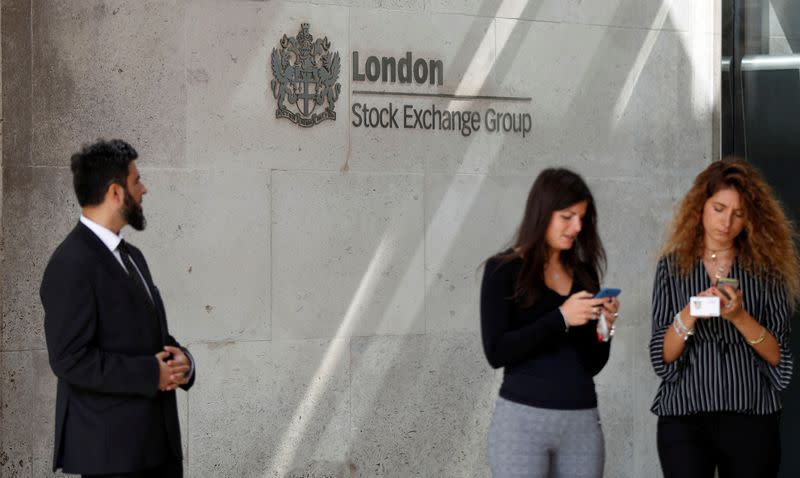 UK shares outshine as Europe hovers below record highs
