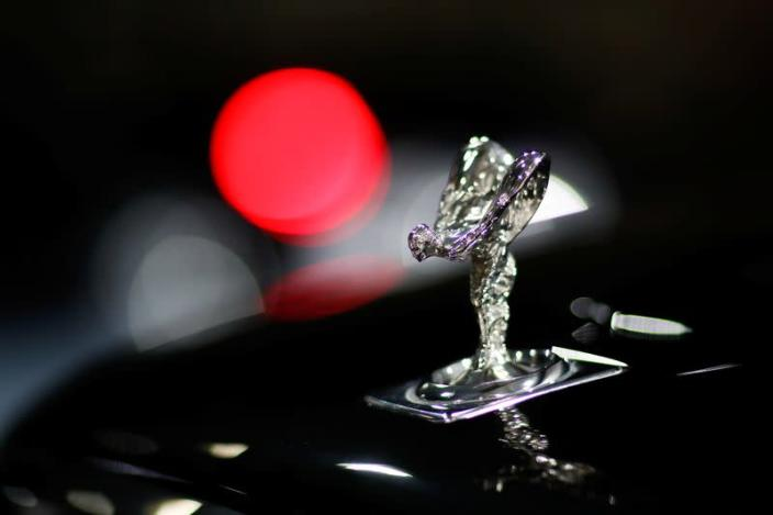 """The """"Spirit of Ecstasy"""" bonnet ornament of a Rolls-Royce car is seen at the headquarters of Chabe, Chauffeured Cars Services, in Nanterre"""