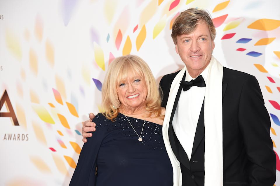 LONDON, ENGLAND - JANUARY 28:  Judy Finnigan and Richard Madeley pose in the winners room at the National Television Awards 2020 at The O2 Arena on January 28, 2020 in London, England. (Photo by David M. Benett/Dave Benett/Getty Images)