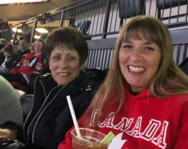 Paulette LeBlanc took in a Wildcats game with her mother, Félice Cormier, during one of her pre-COVID visits to New Brunswick.