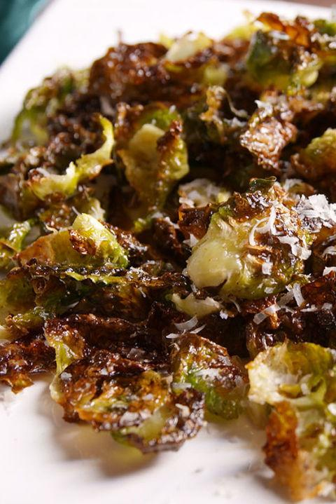 "<p>So much better than kale chips.</p><p>Get the recipe from <a rel=""nofollow"" href=""http://www.delish.com/cooking/recipes/a49646/brussels-sprout-chips-recipe/"">Delish</a>.</p>"