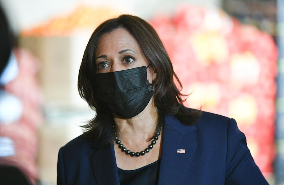 Vice President Kamala Harris speaks to reporters in Las Vegas last week. (Mandel Ngan/AFP via Getty Images)