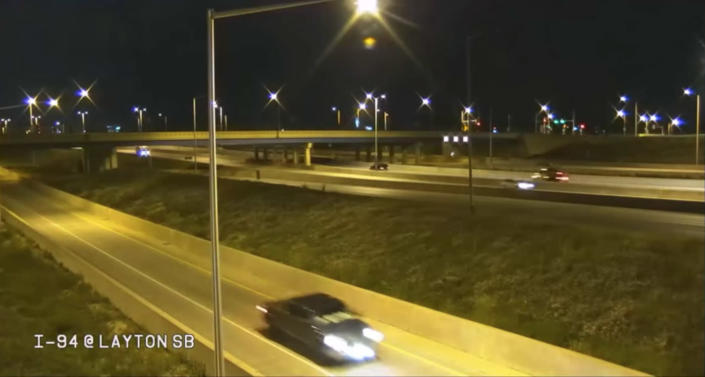Milwaukee Police released video of the truck traveling on I-94 near General Mitchell International Airport. (Milwaukee Police Dept.)