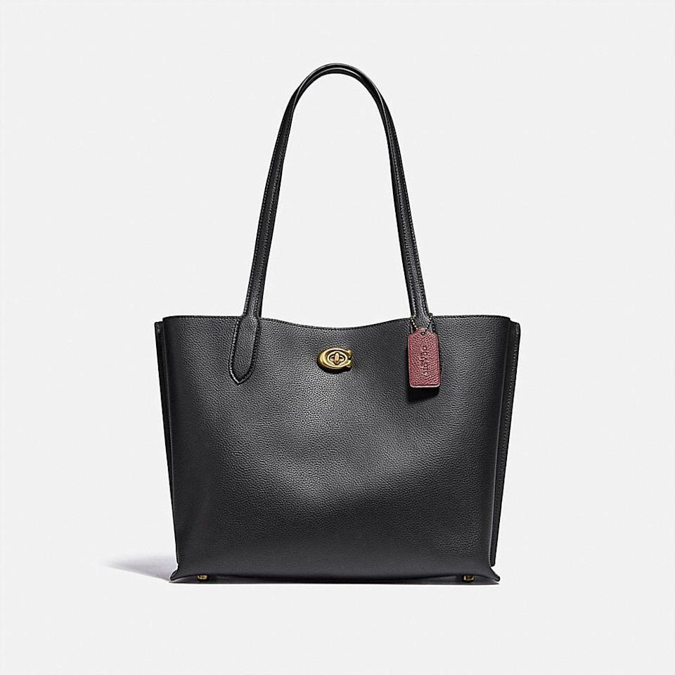 <p>Looking for a versatile everyday bag? Treat yourself to the <span>Coach Willow Tote</span> ($295).</p>
