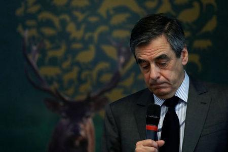 Francois Fillon speaks at the National Federation of Hunnters General Assembly in Paris