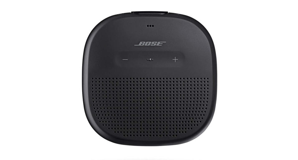 Crisp, balanced sound and unmatched bass. Plays loud & clear outdoors for beach days or camping trips with up to 6 hours of play time (Photo: Bose)