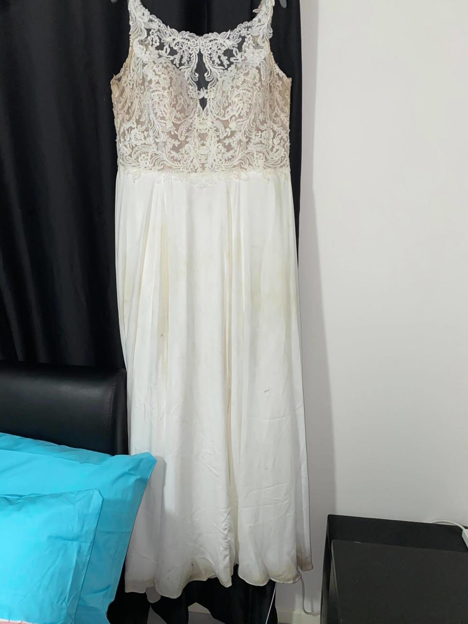 Image of dirty wedding gown
