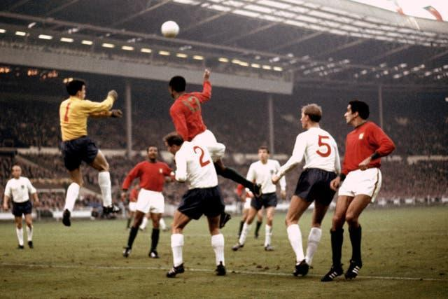 England came through against a Portugal side including Eusebio in 1966