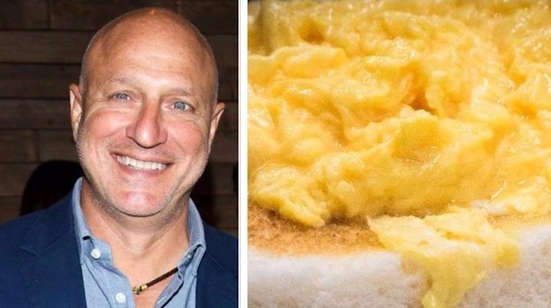 Tom Colicchio's Secret To The Creamiest Scrambled Eggs Of Your Life