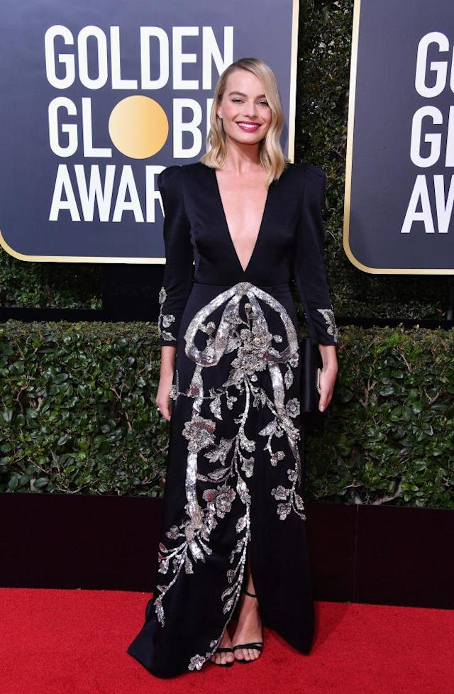 <p>The star of<em> I, Tonya</em>, a nominee for Best Actress in a Movie — Comedy or Musical, attends the 75th Annual Golden Globe Awards at the Beverly Hilton Hotel in Beverly Hills, Calif., on Jan. 7, 2018. (Photo: Steve Granitz/WireImage) </p>